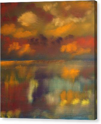 Evening Reflection Canvas Print by Chris Fraser