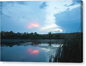 Evening Reflections On The Pond Canvas Print