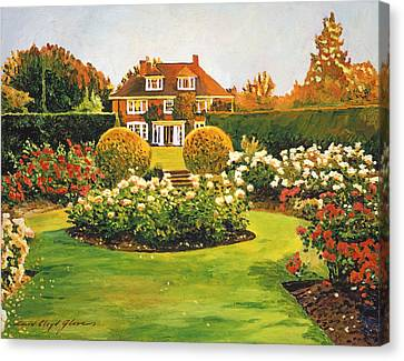 Evening Rose Garden Canvas Print