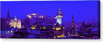 Historic Architecture Canvas Print - Evening, Royal Castle, Edinburgh by Panoramic Images
