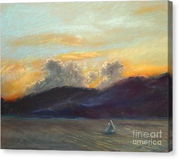 Evening Sail Canvas Print by Addie Hocynec