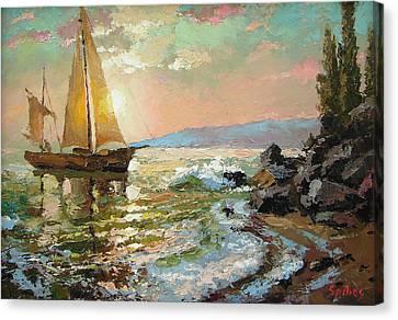 Evening Sail Canvas Print by Dmitry Spiros