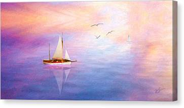 Cape Cod Canvas Print - Evening Sail by Michael Petrizzo