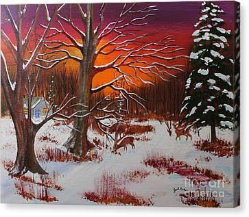 Jack Brauer Canvas Print - Evening Shadows by Jack G  Brauer