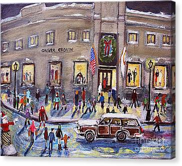 Evening Shopping At Grover Cronin Canvas Print