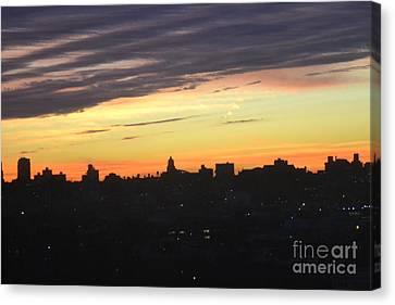 Evening Sky Canvas Print by Robert Daniels