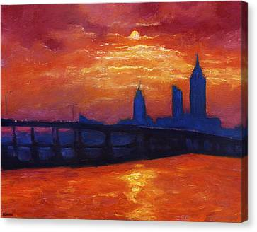 Evening Skyline Mobile Canvas Print