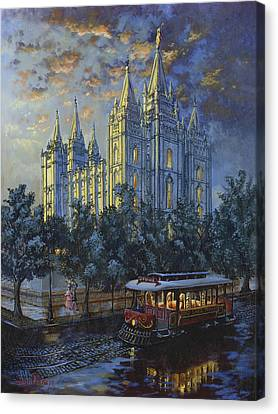 Evening Solace Canvas Print by Jeff Brimley