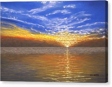 Evening Splash Canvas Print