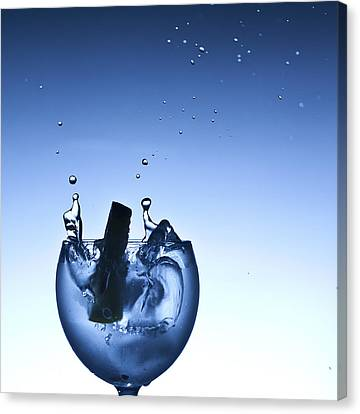 Evening Splash Canvas Print by Michael Murphy