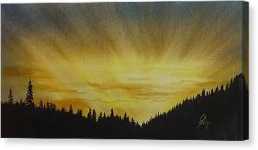 Evening Splendour Canvas Print