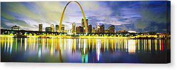 Evening, St Louis, Missouri, Usa Canvas Print by Panoramic Images