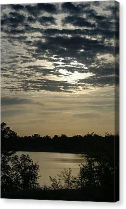 Canvas Print featuring the photograph Evening Sunset by Roseann Errigo