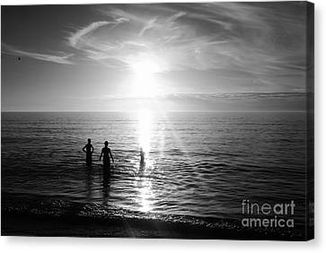 Evening Swim Canvas Print by William Wyckoff