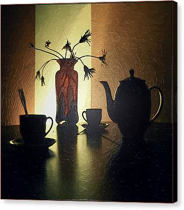 Evening Tea Canvas Print