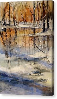Evening Thaw Canvas Print