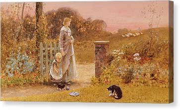 Gatepost Canvas Print - Evening by Thomas James Lloyd