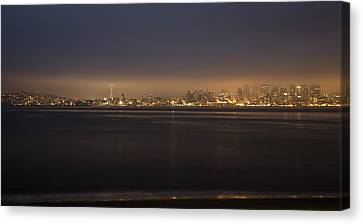 Evening View Canvas Print by Akos Kozari