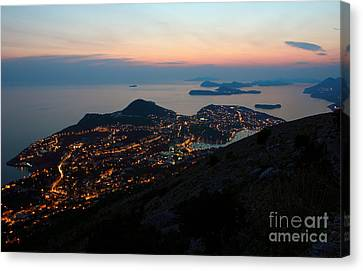 Evening View Toward Dubrovnik And The Dalmatian Coast Canvas Print by Kiril Stanchev