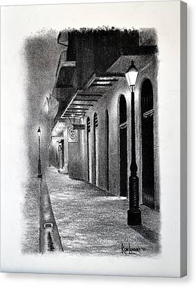 Evening Walk Down Pirate Alley Canvas Print