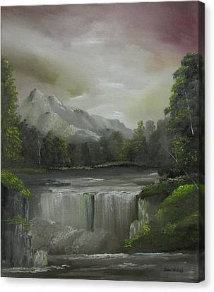 Evening Waterfalls Canvas Print
