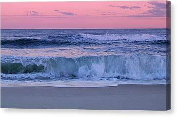 Evening Waves - Jersey Shore Canvas Print