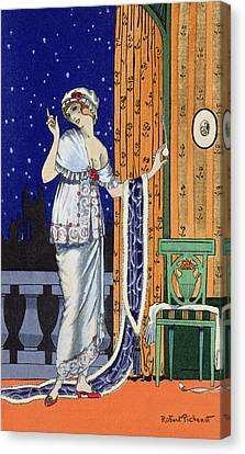 Evening Wear From Costume Parisien Canvas Print by Robert Pichenot