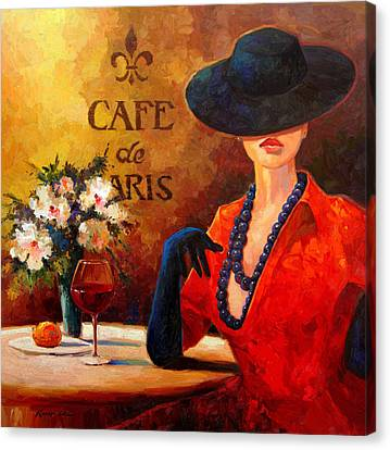 Evening Wine Canvas Print by Kanayo Ede