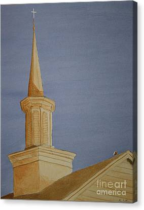 Canvas Print featuring the painting Evening Worship by Stacy C Bottoms