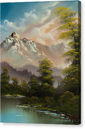 Bob Ross Canvas Print - Evenings Glow by Chris Steele