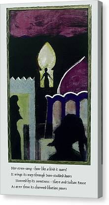 Evensong With Poem Canvas Print by Walter Clark