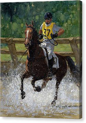 Eventing Horse Canvas Print