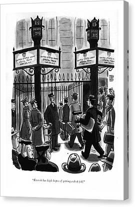 Companion Canvas Print - Everett Has High Hopes Of Getting A Desk Job by Robert J. Day