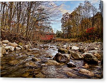 Everett Rd Covered Bridge Canvas Print by Jack R Perry
