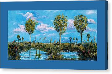 Everglades Sage Palms Canvas Print