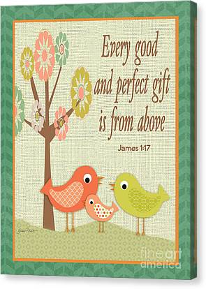 Juvenile Art Canvas Print - Every Good Gift by Jean Plout