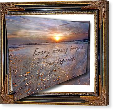 Coastal Places Canvas Print - Every Morning Brings A New Beginning II by Betsy Knapp