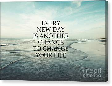 Canvas Print featuring the photograph Every New Day by Sylvia Cook