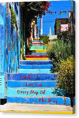 Every Step Canvas Print by Kurt Van Wagner