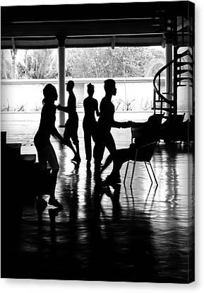 Everybody Dancing Canvas Print by Valentino Visentini