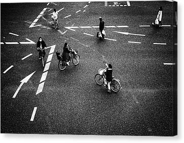 Crosswalks Canvas Print - Everybody Is Different by Tomorca