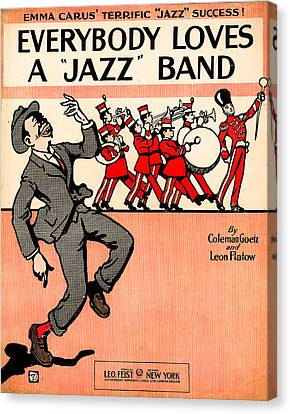 Everybody Loves A Jazz Band Canvas Print by Bill Cannon