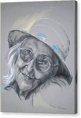 Canvas Print featuring the drawing Everybodys Grandma by Peter Suhocke