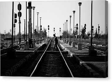Train Crossing Canvas Print - Everyday by Julien Oncete