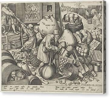 Everyman, Pieter Van Der Heyden, Pieter Brueghel Canvas Print