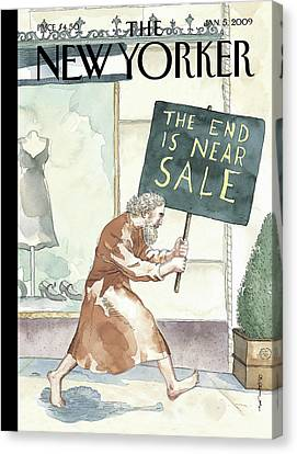 Everything Must Go By Barry Blitt Canvas Print by Barry Blitt