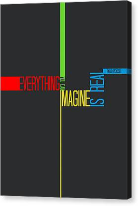 Everything You Imagine Poster Canvas Print by Naxart Studio