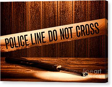 Law Enforcement Canvas Print - Evidence by Olivier Le Queinec
