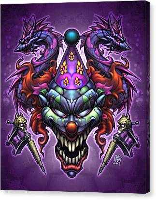 Posse Canvas Print - Evil Clown by David Bollt