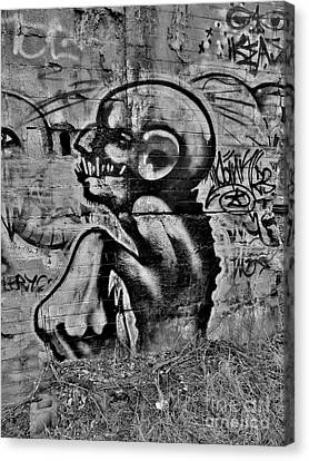 Evil Lerks  Canvas Print